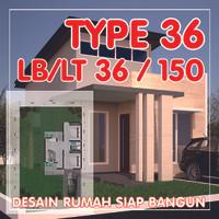 Gambar Desain Rumah TYPE 36 - Gambar Rumahh Siap Bangun & Siap Pakai