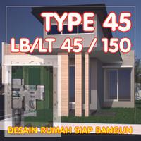 Gambar Desain Rumah TYPE 45 - Gambar Rumahh Siap Bangun & Siap Pakai