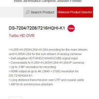 DVR Turbo Hikvision 16CH H265+ DS-7216HQHI-K1 NEW VERSION 4.0