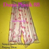 @15psg kemasan SUMPIT makan BAMBU bambo kayu murah 20cm mie chopstick