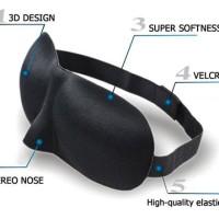 3D Sleep Mask Eye Mask Travel Soft Sleeping Googles Kacamata Tidur -