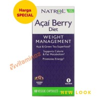 Natrol Acai Berry Diet & Green Tea - 60 Kapsul
