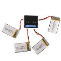[SX] 4pcs Battery 800mah 3.7v  Charger For Syma X5c X5sc X5sw Drone
