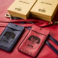 ID Card / Name Tag Kulit Custom Nama / ID CARD HOLDER SINGKARAK A01