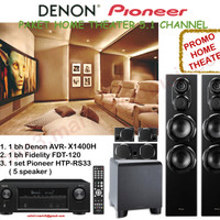 Paket Denon Pioneer AVR X1400H home theater system sln jbl yamaha sony