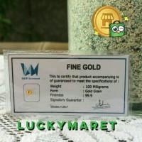 0,1gr | Logam Mulia Emas Murni Pure Gold Non Antam
