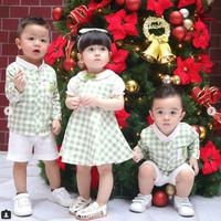 Felize Matcha Green Mosfit Dress Anak Perempuan size M L XL