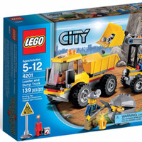 anak kreatif Lego City 4201 : Loader and Dump Truck Murah