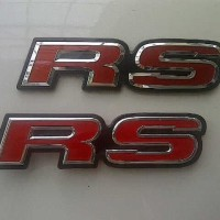 Emblem RS Red JDM Style Honda Ori For Logo Jazz/Civic/Brio Berkualitas