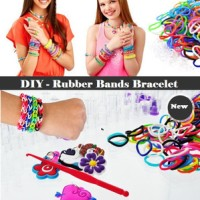 Rainbow Loom Bands Gelang Karet Pelangi Mainan Anak Edukatif Kreatif