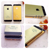 STICKER GOLD FOR IPHONE 5/s