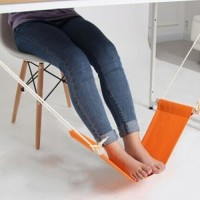 Mini Hammock Tablet Foot Rest / Pijakan Kaki Meja Orange