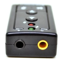 READY USB Virtual 7 1 Channel Sound Card USB External Adapter Portabl