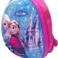 Tas Ransel Anak Sekolah Telur Frozen Import 3D Timbul Blue Grc01