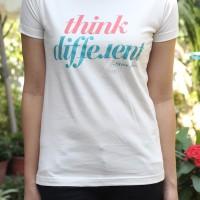 T-Shirt Kaos Quote Inspirasi Motivasi Wanita Think Different