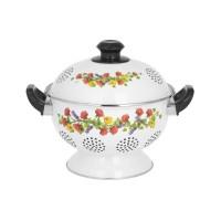 IDEAL Rice Bowl (Tempat/Wakul Nasi) Enamel 24 cm motif VICTORIA Merah