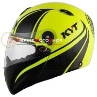 Helm KYT X Rocket #2 Yellow Fluo Black