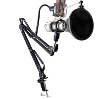 Condenser Microphone & Phone Stand Holder 360 Degree