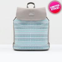 Tas Wanita Original 3Second Grey Blue Ethnic Backpack