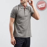 Poloshirt Carvil Plain Grey Z816