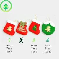 Jual Dekorasi Gantungan Pohon Natal Kaos Kaki Santa Hiasan Pernik Natal Murah