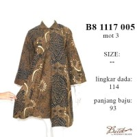 dress jumbo lpj XXXL B81117005/fashion wanita/baju jumbo /batik murah