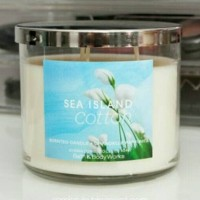 Bath & Body Works BBW SEA ISLAND COTTON 3-Wick Scented Candle 411 g