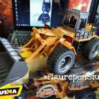 DIECAST Rc Bulldozer Metal HUINA Toys 2,4 G HZ 6CH 1/18 Mainan remote