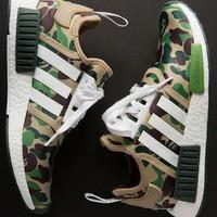 Sepatu Adidas NMD R1 Camo Bape Edition Premium