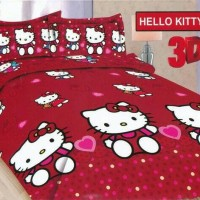 Sprei Bonita Kitty Red 180x200