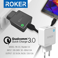 Charger ROKER Thunder RK-C5 Qualcomm Quick Charger QC 3.0 + Data Cable
