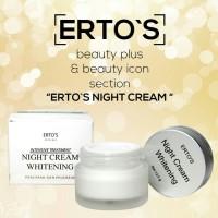 ERTOS NIGHT CREAM WHITENING ORI BPOM /DERMO NIGHT CARE WHITENING CREAM