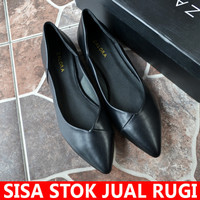Sepatu Flat Shoes Wanita ZALORA Flatshoes Hitam Original Asli Termurah