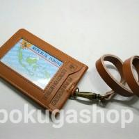 id card holder /name tag kulit pln limited /PLN/NAMETAG GARUT KULIT