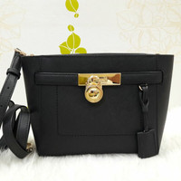 Ready tas Michael kors Hamilton medium messanger black original