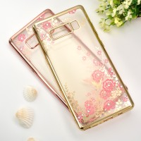 Samsung Galaxy Note 8 soft case casing hp cover ultra thin TPU FLOWER