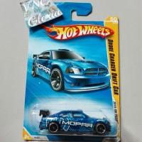 Hot Wheels Dodge Charger Drift Car Mopar 2010 Blue Hotwheels HW biru