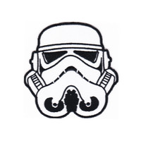 PATCH ON! Iron Patch and STAR WARS stormtrooper 10X10CM Bordir