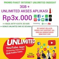 SUPER PROMO PAKET INDOSAT 3GB + UNLIMITED AKSES APLIKASI MEDIA SOSIAL