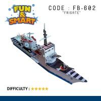Puzzle 3D Foam Paper Mainan Edukasi - FRIGATE