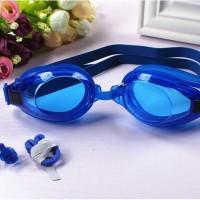 kacamata renang dewasa dengan ear plug telinga nose clip hidung HHM377