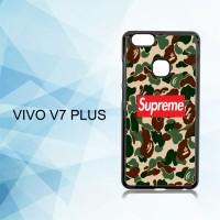 Casing Hardcase HP Vivo V7 Plus supreme x bape X4902