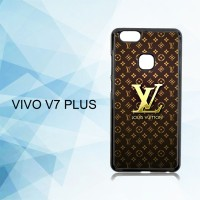 Casing Hardcase HP Vivo V7 Plus Louis Vuitton Gold X4869
