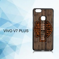 Casing Hardcase HP Vivo V7 Plus Harley Davidson Wood Logo X5019