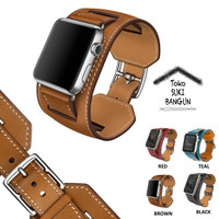 42mm Apple Watch iWatch Tali Jam HERMES BUCKLE CUFF Leather Strap Band