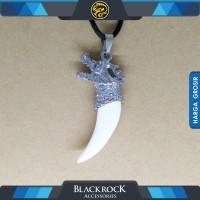 Kalung Liontin TARING NAGA WHITE Pria Wanita - Blackrock