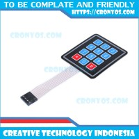 keypad 3x4 matrik / keyboard matrix membran 4x3