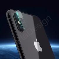 TEMPERED GLASS / BAHAN FIBER LENSA KAMERA iPhone X / TEN ISI 2 PC