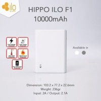 Powerbank Hippo Power Bank ILO F1 10000 mAh (Garansi Resmi)
