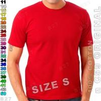 Size-S n C59 Original K4-25 Kaos Oblong Polos Katun Merah Cabe